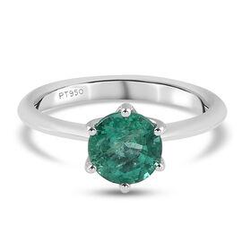 RHAPSODY 950 Platinum AAAA Emerald Solitaire Ring 1.33 Ct.