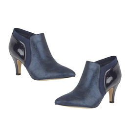 Lotus Navy Print/Patent Candice Shoe Boots