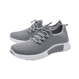 Grey Knit Womens Trainers