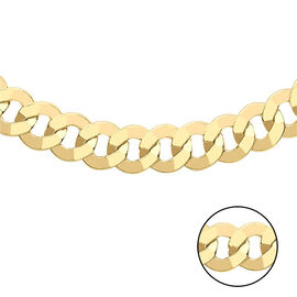 Hatton Garden Close Out - Italian Made - 9K Yellow Gold Curb Necklace (Size 20), gold wt. 9.30 Gms