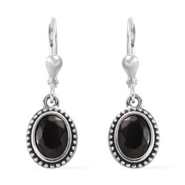 1.50 Ct Elite Shungite Solitaire Drop Earrings in Sterling Silver