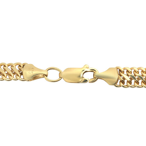 JCK Vegas Collection- 9K Yellow Gold Double Curb Chain (Size 20), Gold wt 10.43 Gms