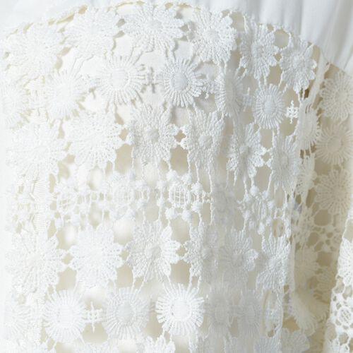 White Colour Woven lace Cardigan