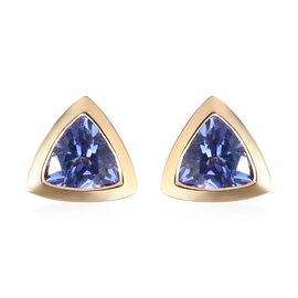 ILIANA 18K Yellow Gold AAA Tanzanite Stud Earrings 1.00 Ct.