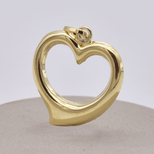 9K Yellow Gold Open Heart Pendant