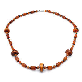 Natural Baltic Amber Necklace (Size 24) in Sterling Silver