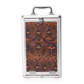 Super Organizer Snake Skin Pattern Anti-Tarnish Lining Five Tier Jewellery Box (Size 33x20x19.5 Cm)