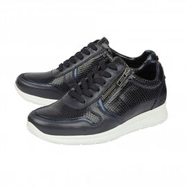 Lotus Stressless Navy Snake Leather Shira Casual Trainers