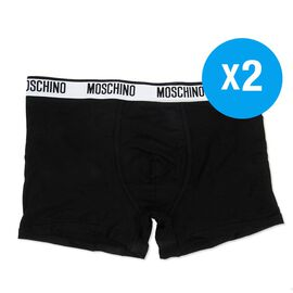 MOSCHINO Two-Pack Boxers Black