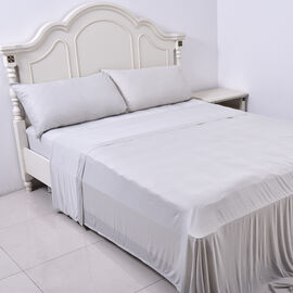 4 Piece Set - Cooling 1 Flat sheet (230x265cm), 1 Fitted Sheet (140x190+30cm) and 2 Pillowcases (50x