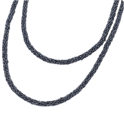 New Arrival- Endless Bead Necklace (Size 58) - Hematite Colour