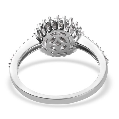9K White Gold SGL Certified Natural Diamond (I3/G-H) Ring 1.000  Ct.