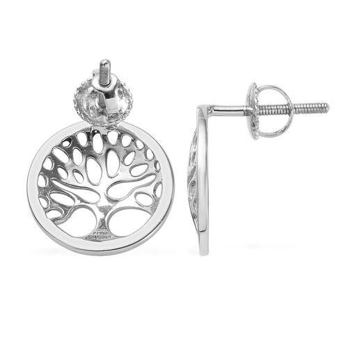 RHAPSODY 950 Platinum Tree of Life Earrings (with Screw Back)