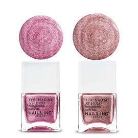 Nails Inc: Holographic Pink - Call of the discoball - Glitter Me Crazy - 14X2 ML