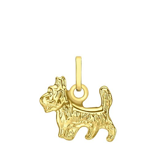 9K Yellow Gold Yorshire Terrier Dog Pendant