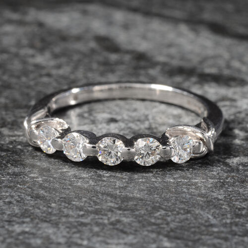 ILIANA 0.50 Carat Diamond Eternity Band Ring in 18K 3.5 Grams SI GH