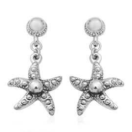 Sterling Silver Starfish Earrings (with Push Back)