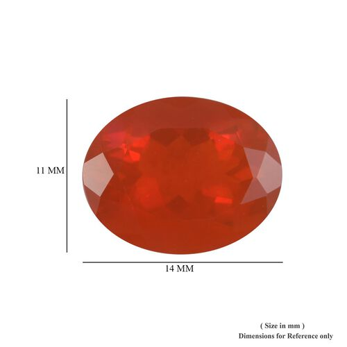 AAAA Fire Opal Oval 14x11 Faceted 4.78 Cts