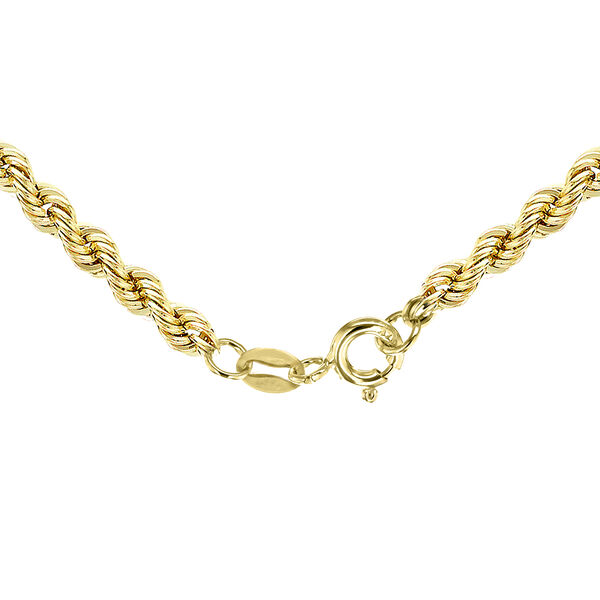 One Time Close Out Deal- 9K Yellow Gold Rope Necklace (Size 22), Gold wt 3.10 Gms