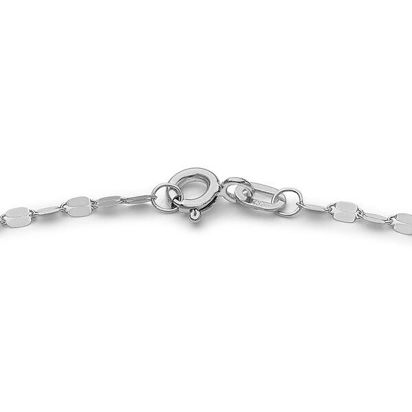 9K White Gold Forzatina Bracelet (Size 7.25)