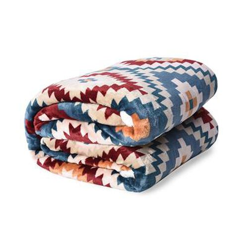 Santa Fe Printed Warm & Soft Double Layer Sherpa Blanket (150x200 cm)