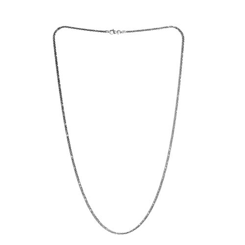 Italian Close Out-Sterling Silver Diamond Cut Rock Necklace (Size 24), Silver wt 6.60 Gms