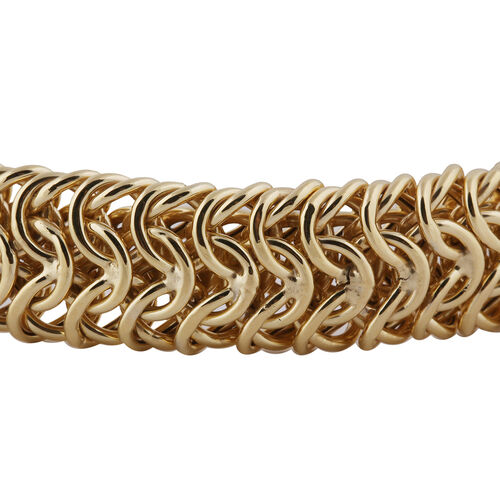 Italian Made - 9K Yellow Gold Collegamento Bracelet (Size 8.5inch), Gold wt. 17.47 Gms