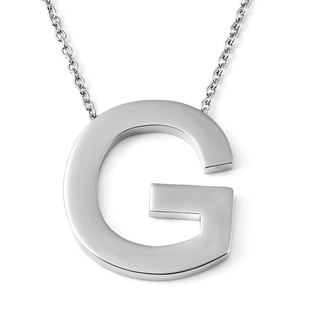 Initial G Necklace (Size - 20) in Stainless Steel