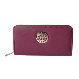 Elegant Purple RFID Long Clutch Wallet
