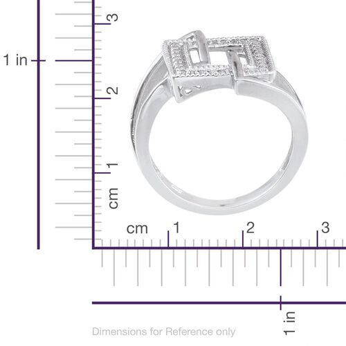 J Francis - Platinum Overlay Sterling Silver (Rnd) Ring Made with SWAROVSKI ZIRCONIA 0.224 Ct.