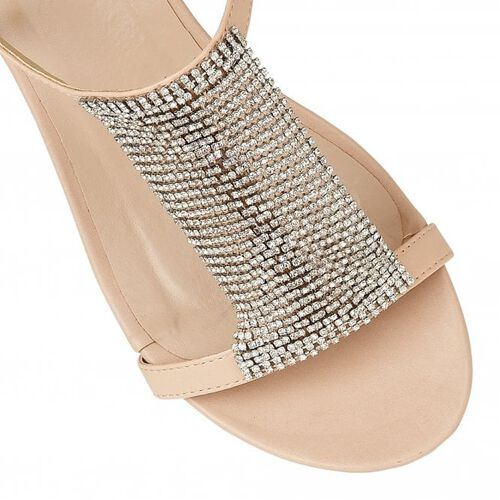 Lotus Nude Klarissa Wedge Open-Toe Sandals (Size 3)