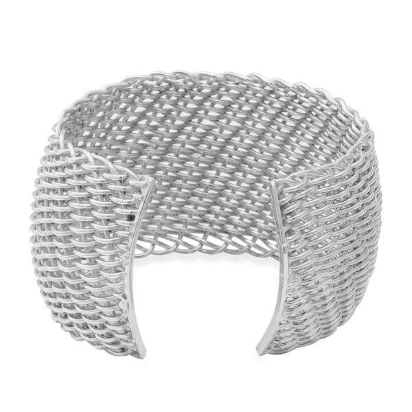 Sterling Silver Adjustable Bangle (Size 7) Silver wt 74.00 Gms