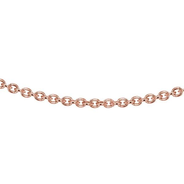 Rose Gold Plated Sterling Silver Rolo Chain (Size 18)