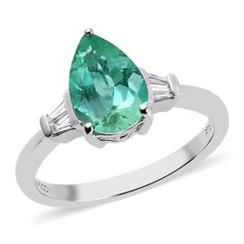 RHAPSODY 950 Platinum AAAA Boyaca Colombian Emerald and Diamond (VS/E-F) Ring 1.67 Ct.