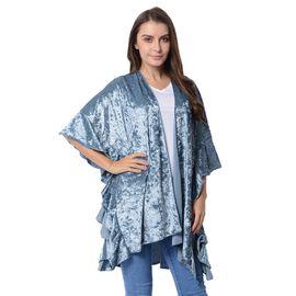 Silver Grey Colour Falbala Sleeves Kimono (Size 96x70 Cm)