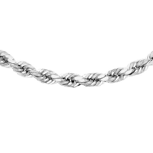 Hatton Garden Close Out Deal 9K White Gold Rope Chain (Size 18)