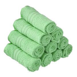 Set of 10 - 100%Egyptian Cotton Face Towel (Size:30x30Cm) - Sage