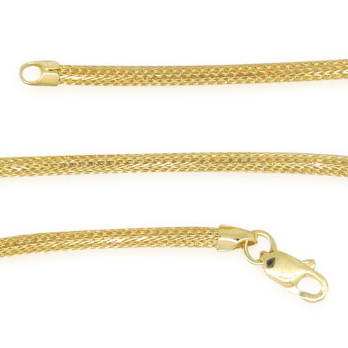 Close Out Deal  9K Y Gold Foxtail Chain (Size 18), Gold wt 3.14 Gms.