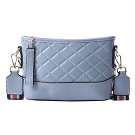 lifestyle-Color:Blue; size/Profile:Crossbody bag;wall(exterior);Genuine Leather. Lining(interior):po