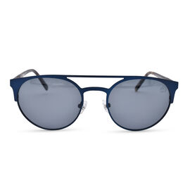 TIMBERLAND Blue Round Aviator Sunglasses with Blue Lenses