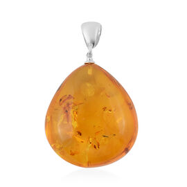 LIVE from Tucson- Baltic Amber Drop Pendant in Sterling Silver
