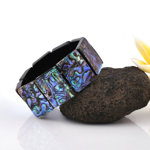 One Time Deal- Hand Crafted Extremely Rare Size Abalone Shell Bracelet (Size 30x22 mm)