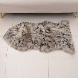 Faux Sheep Skin Rug Size 100x60 Cm Chocolate