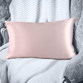 SERENITY NIGHT 100% Mulberry Silk Pillowcase Infused with Hyaluronic & Argan Oil in Pink (Size 75x50