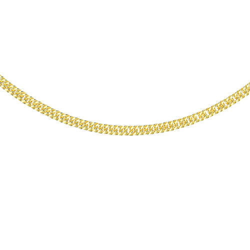 9K Yellow Gold Triple Curb Chain (Size 18), Gold wt 3.00 Gms