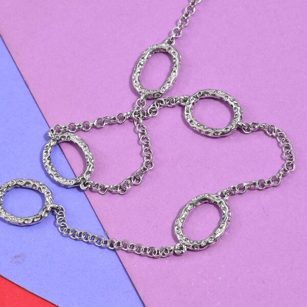 RACHEL GALLEY Platinum Overlay Sterling Silver Necklace (Size 24)
