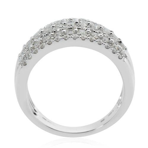 NY Close Out 14K White Gold Diamond (VS-SI/G-H) Ring 1.00 Ct, Gold wt 7.05 Gms