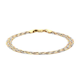 Italian Made 9K Yellow and White Gold Bracelet (Size 7.25)