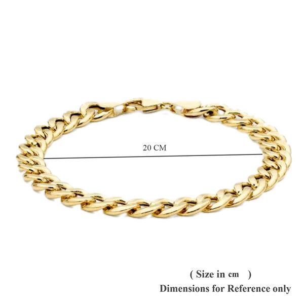 9K Yellow Gold Oval Curb Bracelet (Size 8), Gold wt 7.70 Gms