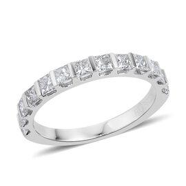 Limited Available - RHAPSODY 950 Platinum IGI Certified Diamond (Princess Cut) (VS/F) Ring 1.000 Ct.